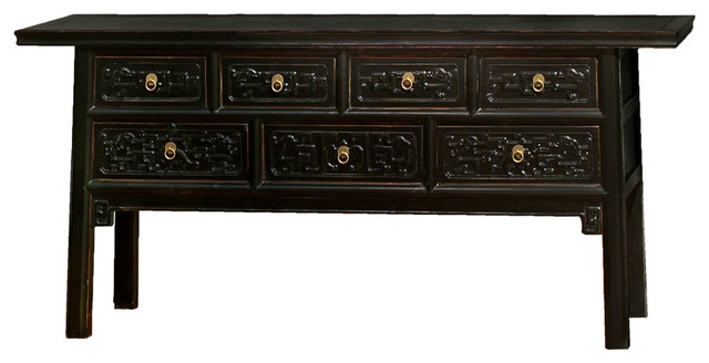 Elmwood qing console table asian console tables by for Asian furniture westmont il