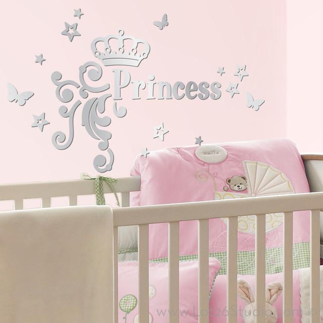 Mirrored Princess Wall Decals kids-wall-decor