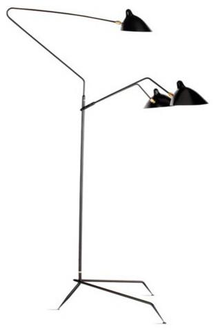 serge mouille floor lamp 3 arms dwr modern floor lamps by. Black Bedroom Furniture Sets. Home Design Ideas