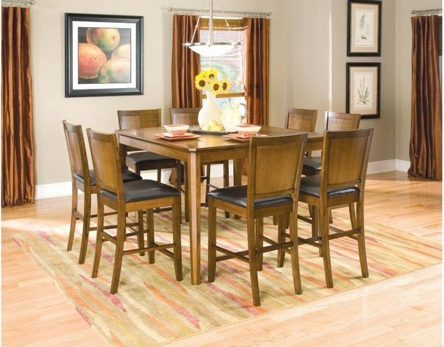 Coaster Walnut Dining Collection Contemporary