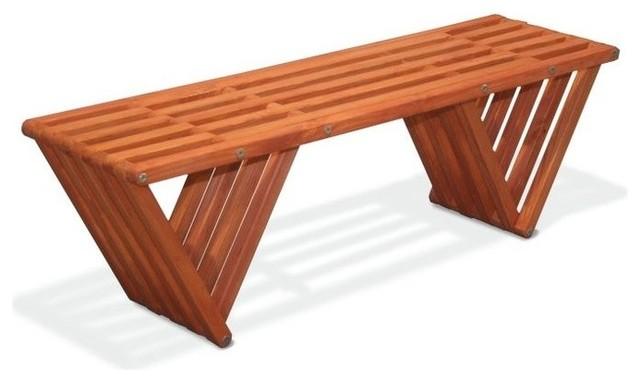 Dea Garden Bench Buffalo Wing Contemporary Garden Benches By GloDea