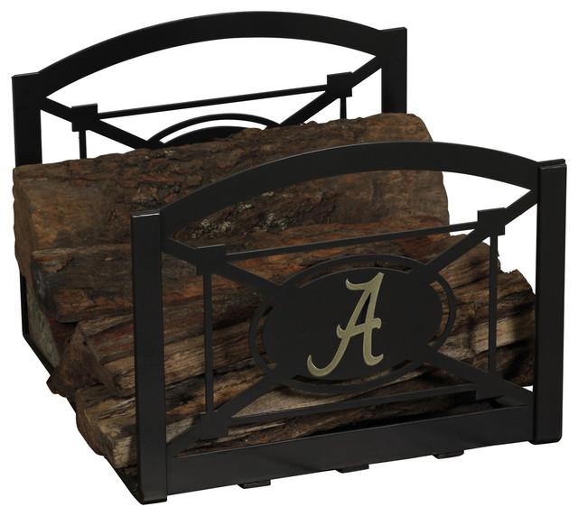 Collegiate Logo Fireside Log Holder University Of Alabama