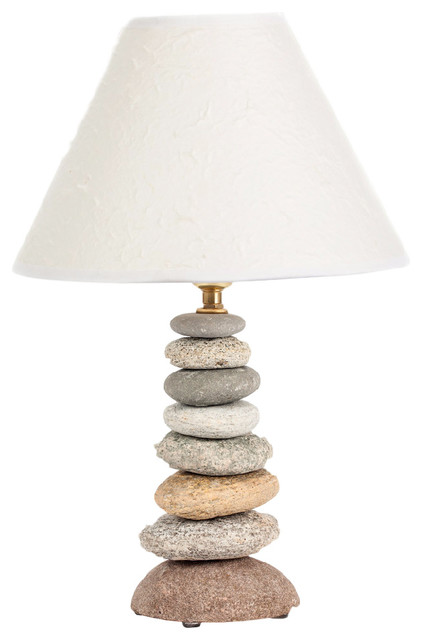 coastal rock lamp beach style table lamps by funky