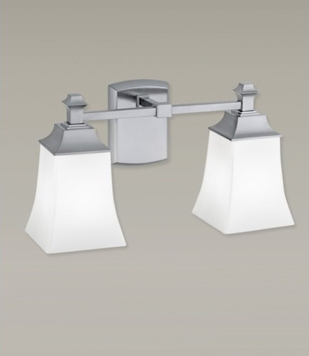 Sapphire Two Light Bath Vanity  Modern  Bathroom Vanity Lighting