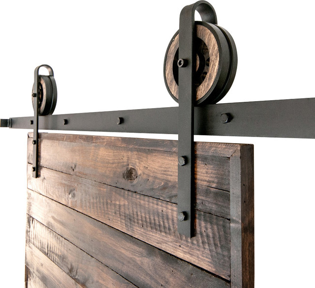 Rustic Slide Barn Door Closet Hardware Set - Rustic - Barn Door Hardware - by White Shanty