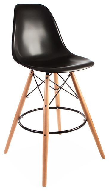 Mid Century Retro DSB Style Bar Stool Black Set of 6  : midcentury bar stools and kitchen stools from www.houzz.co.uk size 366 x 640 jpeg 39kB