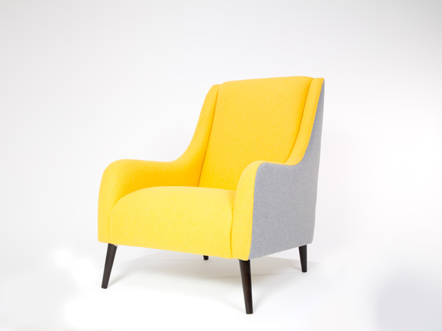 Lauren chair yellow by brewers home contemporary for Contemporary armchair