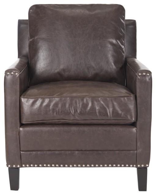 Buckler club chair antique brown contempor neo - Sillones contemporaneos ...