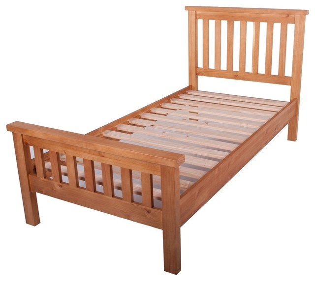kaldors cotsanjo waxed finish kids 3 ft high end bed frame contemporary children 39 s beds. Black Bedroom Furniture Sets. Home Design Ideas