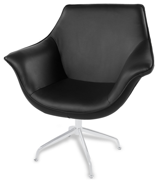 Mala modern swivel occasional chair contemporary for Modern swivel accent chair
