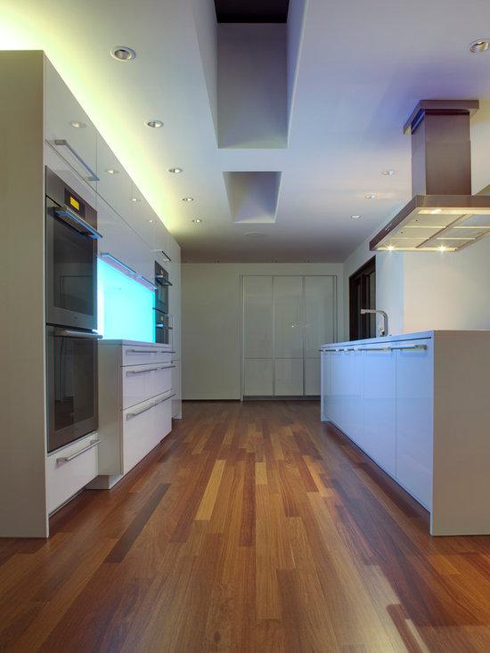 Kitchen design ideas renovations photos with zinc benchtops for Kitchen zinc design