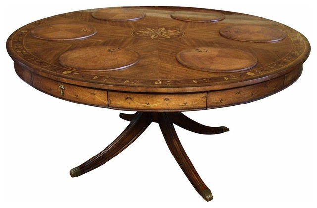 60 inch round dining table with swag inlays traditional dining tables