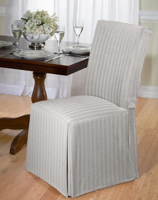 Cotton Herringbone Dining Chair Slipcover Contemporary  : contemporary dining chairs from www.houzz.com.au size 506 x 640 jpeg 70kB