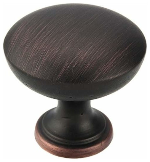 Richelieu Classic Metal Knob 30mm Oil Rubbed Bronze - Contemporary - Cabinet And Drawer Knobs ...