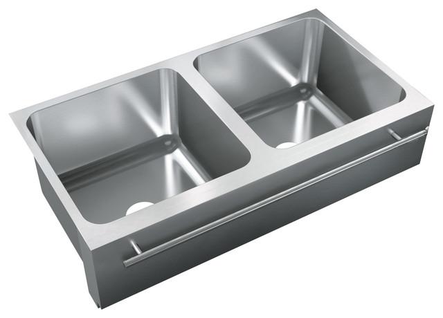 Bowl, Undermount, 18 Gauge, Apron Sink, Square Deck - Kitchen Sinks ...