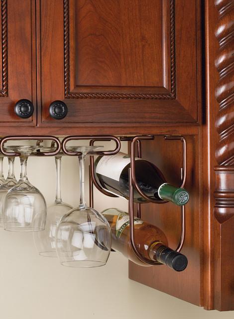 Wine Bottle Rack Double Under Cabinet Organizer - Houston ...
