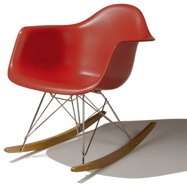 eames molded plastic rocker by herman miller mid century. Black Bedroom Furniture Sets. Home Design Ideas