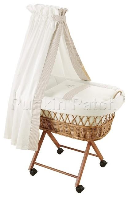 Addison drape crib contemporary cots cribs and cot for Drape stand for crib