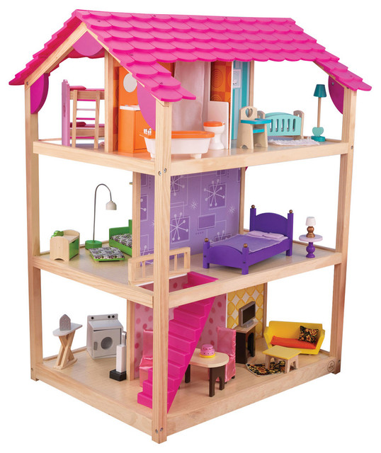 KidKraft So Chic Dollhouse with Furniture - 65078 - Traditional - Kids Toys And Games - by Nurzery