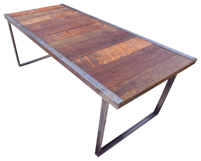 Outdoor Industrial Dining Table Rustic Patio Furniture And Outdoor