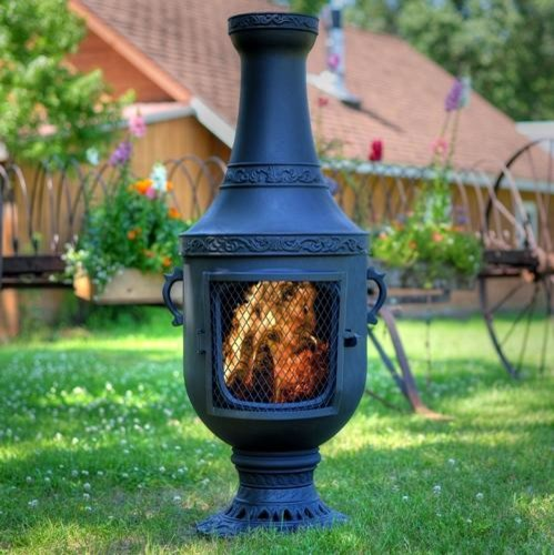 The Blue Rooster Venetian Style Cast Aluminum Chiminea