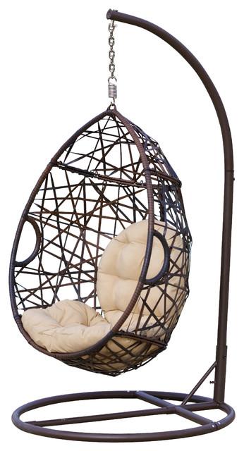 Berkley Outdoor Swinging Egg Chair Contemporary