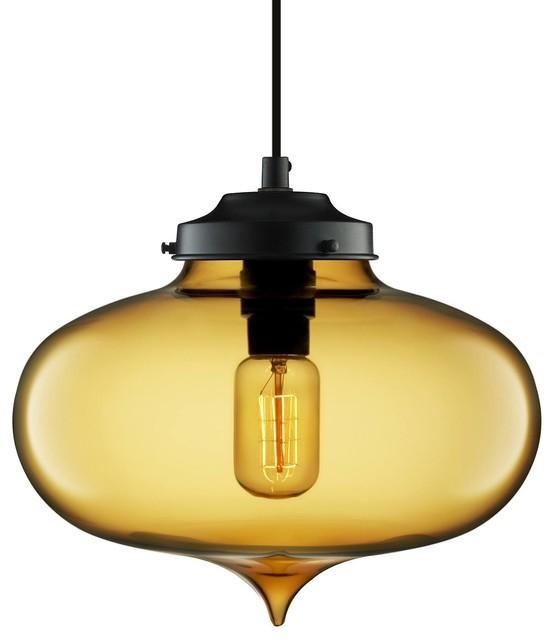 Minaret Modern Pendant Light Amber