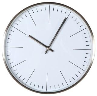 Verichron Simple Clock Silver Modern Wall Clocks By