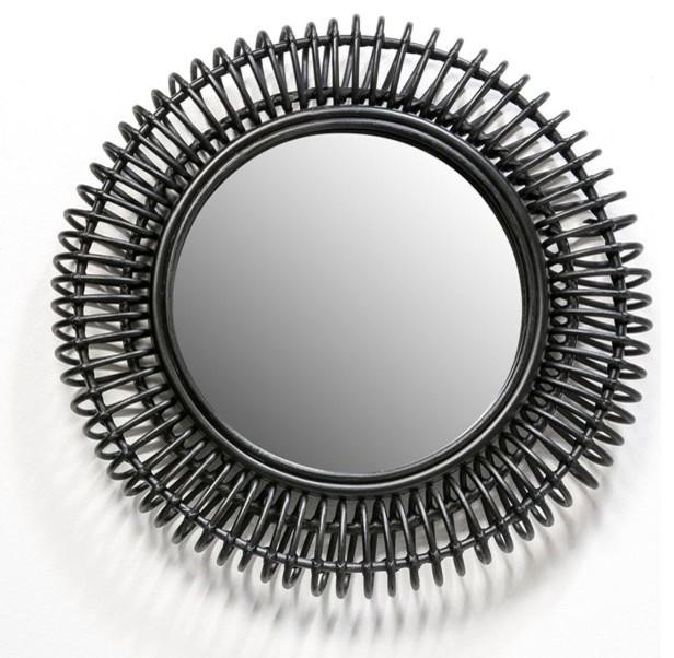 Miroir rotin tarsile rond contempor neo espejos de for Casa miroir rond