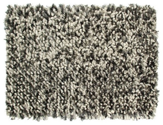 Classic Home Furniture Marshmallow Shaggy Felted Poly Wool Salt Pepper Rug Traditional