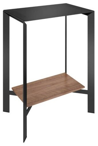Crease pedestal console table by bdi modern console for 10 spring street console table