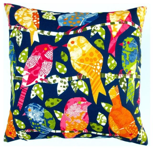 Colorful Bird Throw Pillows : Artisan Pillows Outdoor 18