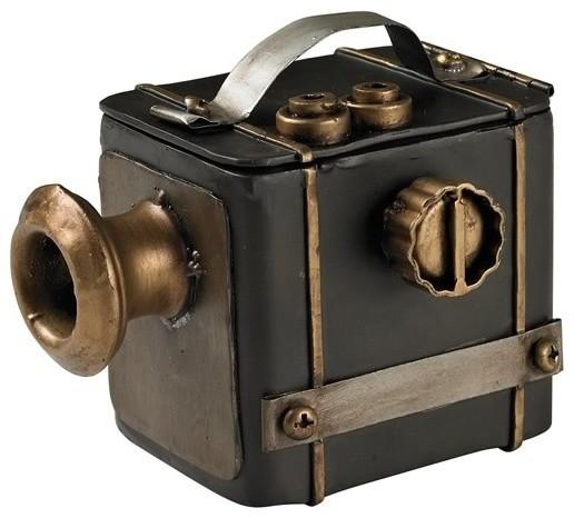 Antique Camera Decorative Display Black Antique Gold
