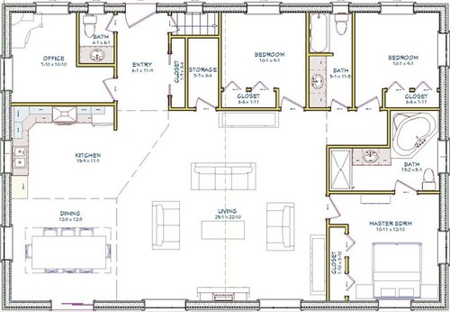 Bungalow plan please comment Bungalow open concept floor plans