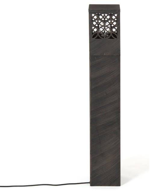 Lida borne d 39 ext rieur h48cm rouille contemporain - Eclairage allee exterieure ...