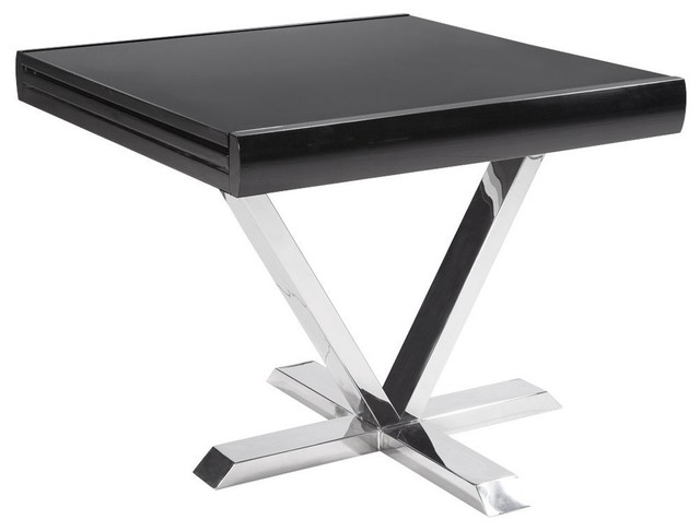 Table de repas extensible elise noire contemporary dining tables by ins - Table extensible wenge ...