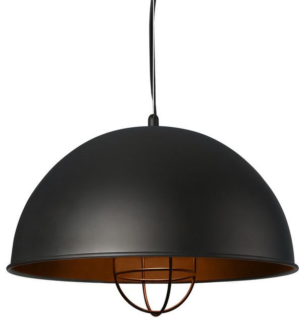Hanging Metal Pendant Light Black