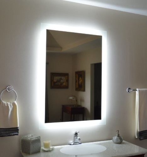 wall mounted lighted vanity mirror modern bathroom mirrors