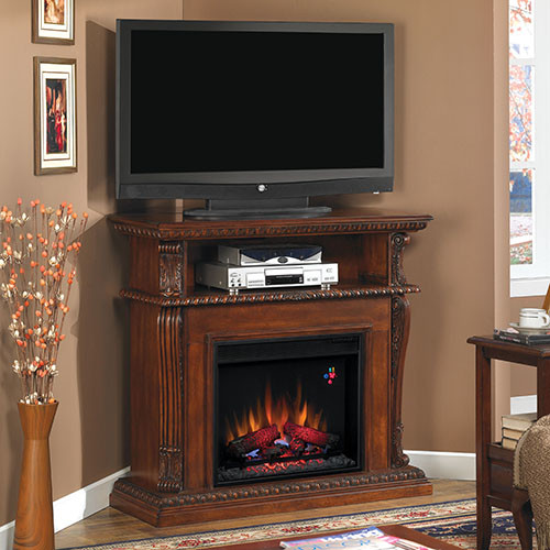 Classic flame corinth electric fireplace entertainment center modern indoor fireplaces - Contemporary electric fireplaces entertainment center ...