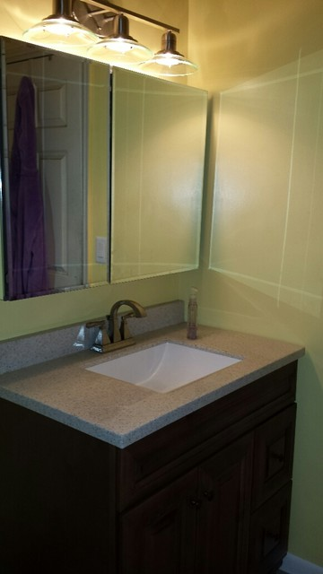 Flood remodel transitional salt lake city by lowe 39 s for Bathroom remodel utah