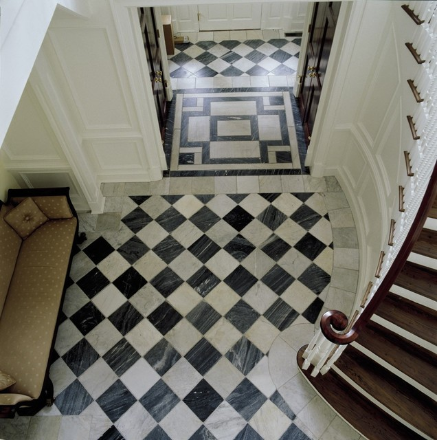 Gallery For Black And White Marble Floor Tile