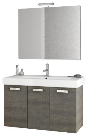 40 Inch Grey Oak Bathroom Vanity Set Contemporary Bathroom Vanities And Sink Consoles By