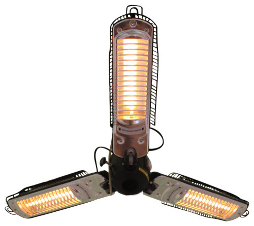 Umbrella Infrared Patio Heater With 3 Heating Heads Traditional Heaters