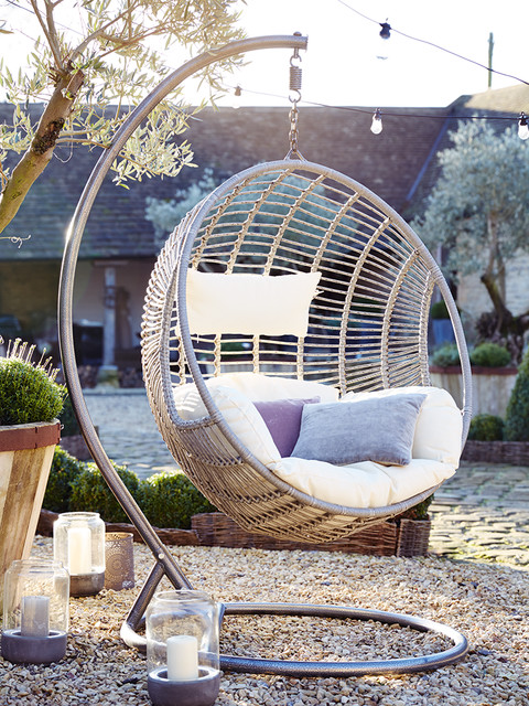 Indoor Outdoor Hanging Chair Contemporary Hanging Chairs By Cox Cox
