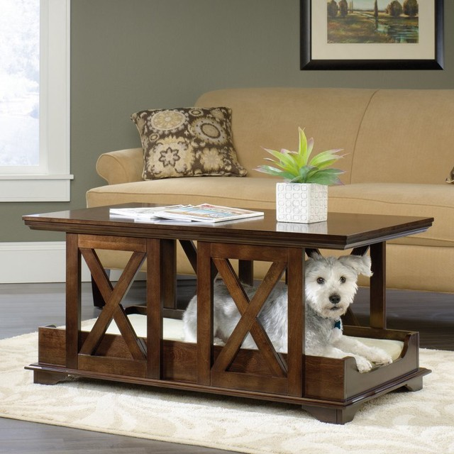 sauder coffee table pet bed 417195 contemporary dog