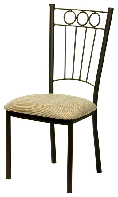 charles dining chair in wrought iron trica notion