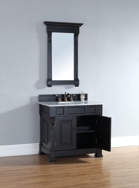 36 Inch Brookfield Vanity With Antique Black Finish Traditional Bathroom