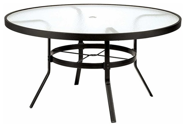 winston 48 in obscure glass top round patio dining table m8148rgu contemporary outdoor dining. Black Bedroom Furniture Sets. Home Design Ideas