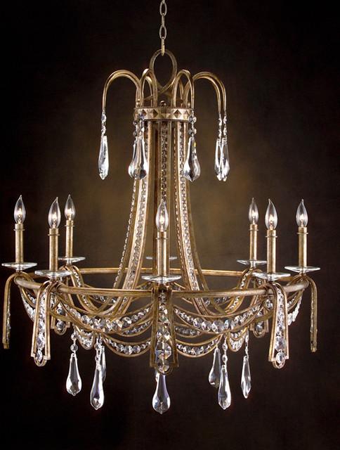 john richard 8 light chandelier ajc 8675 modern. Black Bedroom Furniture Sets. Home Design Ideas