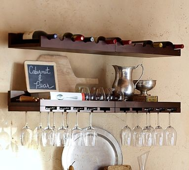 Holman Entertaining Shelf, Wine Bottle, Modern White - Traditional - Display And Wall Shelves ...
